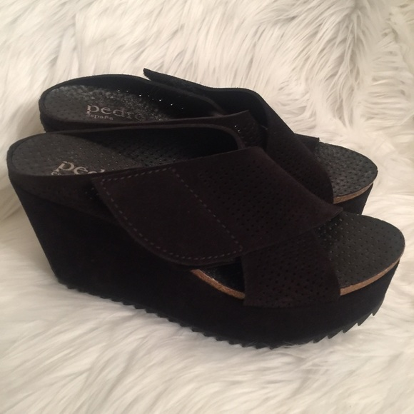 Pedro Garcia Perforated Wedge Sandals cheap top quality sale sneakernews TITcHjaA